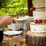 SemiNaked WeddingCake, Chryste en Lorenzo, WeddingCake Den Bosch, Bruidstaart Den Bosch