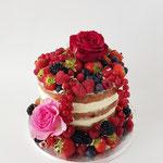 Replica One year Anniversary,Naked Wedding Cake, Richard en Amber, bruidstaart 's-Hertogenbosch, bruidstaart den bosch