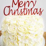 Red Velvet Christmas Cake,  ChristmasCake, Taart Den Bosch
