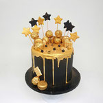 Black and Gold Cake, Altagracia 32 jaar, Taart Den Bosch