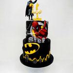 Batman en Spiderman Taart, Sjef 5 jaar, Taart Den Bosch