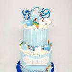 Blue Candy DripCake, Ashley 6 jaar, Taart Den Bosch