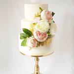 Weddinig Cake, Golden Peony, ShowCake. WeddingCake Den Bosch, Bruidstaart Den Bosch