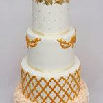 Golden Beauty WeddingCake. Ellen en Wiliam, WeddingCake Den Bosch, Bruidstaart Den Bosch