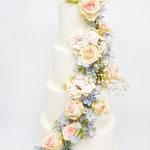 WeddingCake Flowerrain,  Marielle en Jurgen, WeddingCake Den Bosch, Bruidstaart Den Bosch