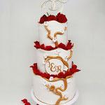 Weddingcake Golden Tree, Inge En Rob, WeddingCakes Den Bosch