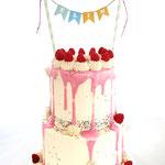 Dripping Confetti Cake, Elin, Taart Den Bosch