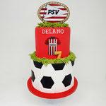 PSV taart voor 2 broertjes, Delano 7 jaar, Taart Den Bosch