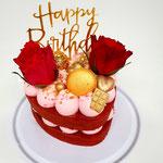 Red Velvet Heart Cake, Taart Den Bosch