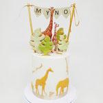 Jungle Giraf Cake, Mynio 1 jaar, Taart Den Bosch