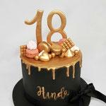 Black with Gold Drip Cake, Hinda 18, Taart Den Bosch