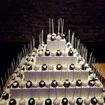WeddingCakePops toren, bruidspaar Cakepop, Jasper en Cindy, bruidstaart 's-Hertogenbosch, bruidstaart den bosch