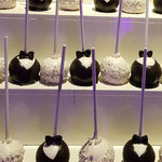 WeddingCakePops toren, bruidspaar Cakepop, Jasper en Cindy,