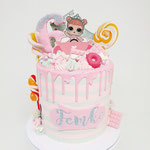 L.O.L.surprise taart, Femke 6, Taart Den Bosch