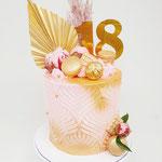 Pink and Gold, Eighteen, DeLuxe Cake Den Bosch