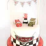 Cars BirthdayCake, Liam 3 jaar, Taart Den Bosch