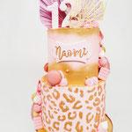 Dubbelzijdige taart voor de zusjes Naomi 12 en Ashley 7, Taart Den Bosch