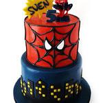 Spidermantaart Sven, taart Den Bosch