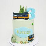 NS Koplopertrein taart, Kenmar 3 jaar, Taart Den Bosch