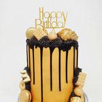 Gold and Black DeLuxe Cake Taart Den Bosch