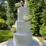 White Cake with a Mario twist, Iris en Kevin, Bruidstaart Den Bosch op lokatie Uden