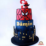 Spidermantaart Damin, taart Den Bosch
