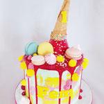Dripping Icecraam Cake, Fem, Taart Den Bosch