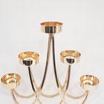 Golden CupCake stand, Taartstandaard verhuur Den Bosch