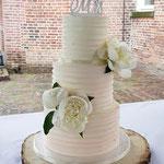 Ingrid en Merlijn, Peach Ombre WeddingCake, Bruidstaart Den Bosch