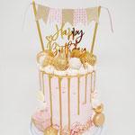 Pink Gold DripCake, Taart Den Bosch