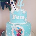 Frozen for Fem, Taart Den Bosch