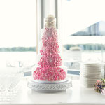 Pink FlowerBomb Bruidstaart, Jorg en Leonie, bruidstaart 's-Hertogenbosch, bruidstaart den bosch