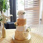 Titia en Stefan, Golden Touch WeddingCake, Bruidstaart Den Bosch