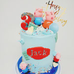 Peppa Pig Cake, Extra High Edition, Jack 3 jaar, Taart Den Bosch