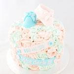 GenderReveal Cake, Little Roses, Genderreveal Cake Den Bosch