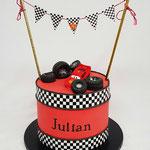 Cars Cake, Julian 4 jaar, Taart Den Bosch