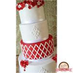 Red Wedding Cake, bruidstaart 's-Hertogenbosch, bruidstaart den bosch