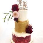 Handpainted WeddingCake, Thijs en Tessa, WeddingCake DenBosch, Bruidstaart Den Bosch