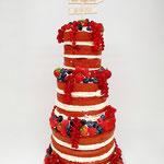 Red Velvet Naked Cake, Patrick en Sandra, Bruidstaart 's-Hertogenbosch