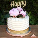 Happy Bruidstaart Pioenroos, bruidstaart 's-Hertogenbosch, bruidstaart den bosch