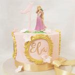 Rapunzel taart, Ela 1 jaar, Taart Den Bosch