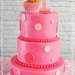 Pink Polkadot taart, Taart Den Bosch