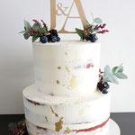 Semi Naked Red Velvet Winter Wedding Cake, Jonne en Arno, Bruidstaart Den Bosch, WeddingCake Den Bosch