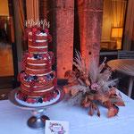 Red Velvet Naked Wedding Cake, Ruben en Sanne, Lokatie Landgoed Huize Bergen,Bruidstaart Den Bosch
