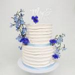 Blue, white and Silver, Amy en Steffan, Bruidstaart Den Bosch