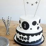 Stef, black and white cake, taart Den Bosch