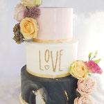 Marmer Love WeddingCake, Richard en Manola, WeddingCake Den Bosch, Bruidstaart Den Bosch
