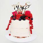 Vegan WeddingCake with fruit, Dana en Ken, Bruidstaart Den Bosch