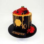 Black and Gold, Voetbaltaart, Caspar 10, taart Den Bosch