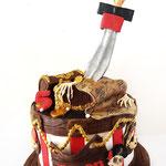 Espen, piratentaart, taart Den Bosch